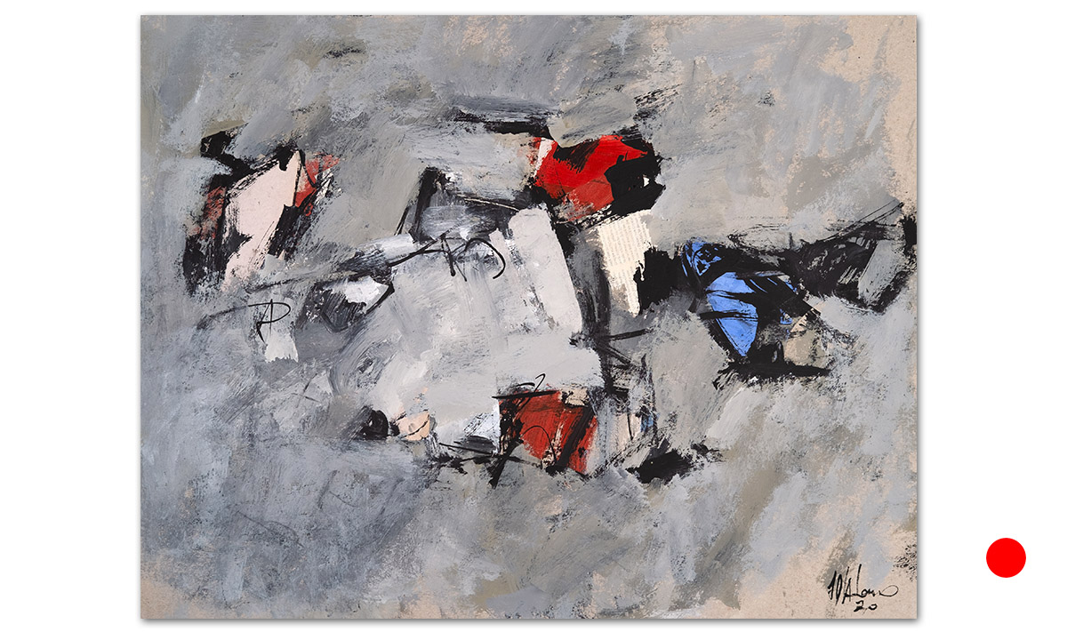 Greys n° 10 - cm. 50x65, 2020 (Private Collection Beaford /UK)