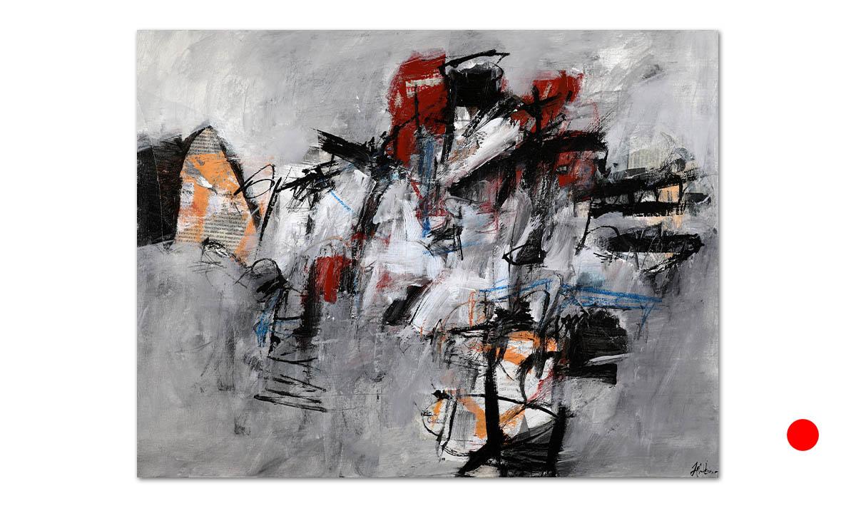 Greys n° 19 - cm. 50x65, 2021 (Private Collection Eschweiler /DE)