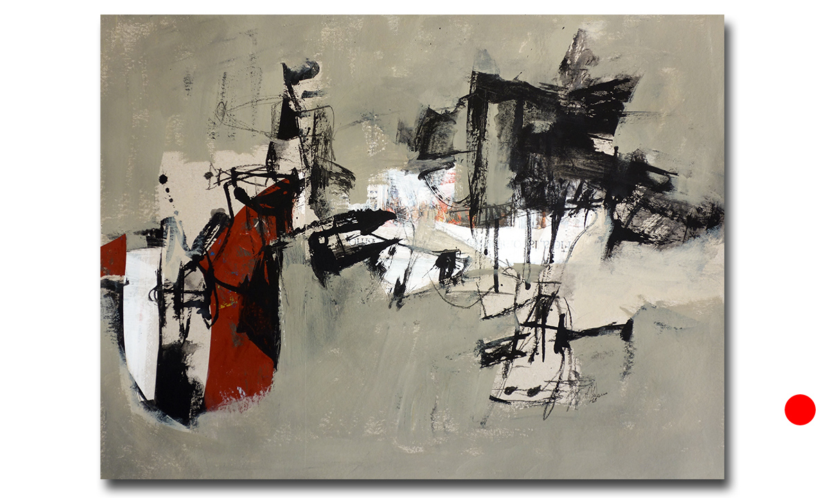 Greys n° 2 - cm. 50x65, 2018 (Private Collection Barcelona /ES)