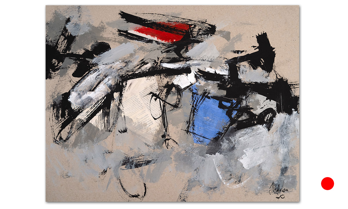 Greys n° 9 - cm. 50x65, 2020 (Private Collection Hong Kong /HK)