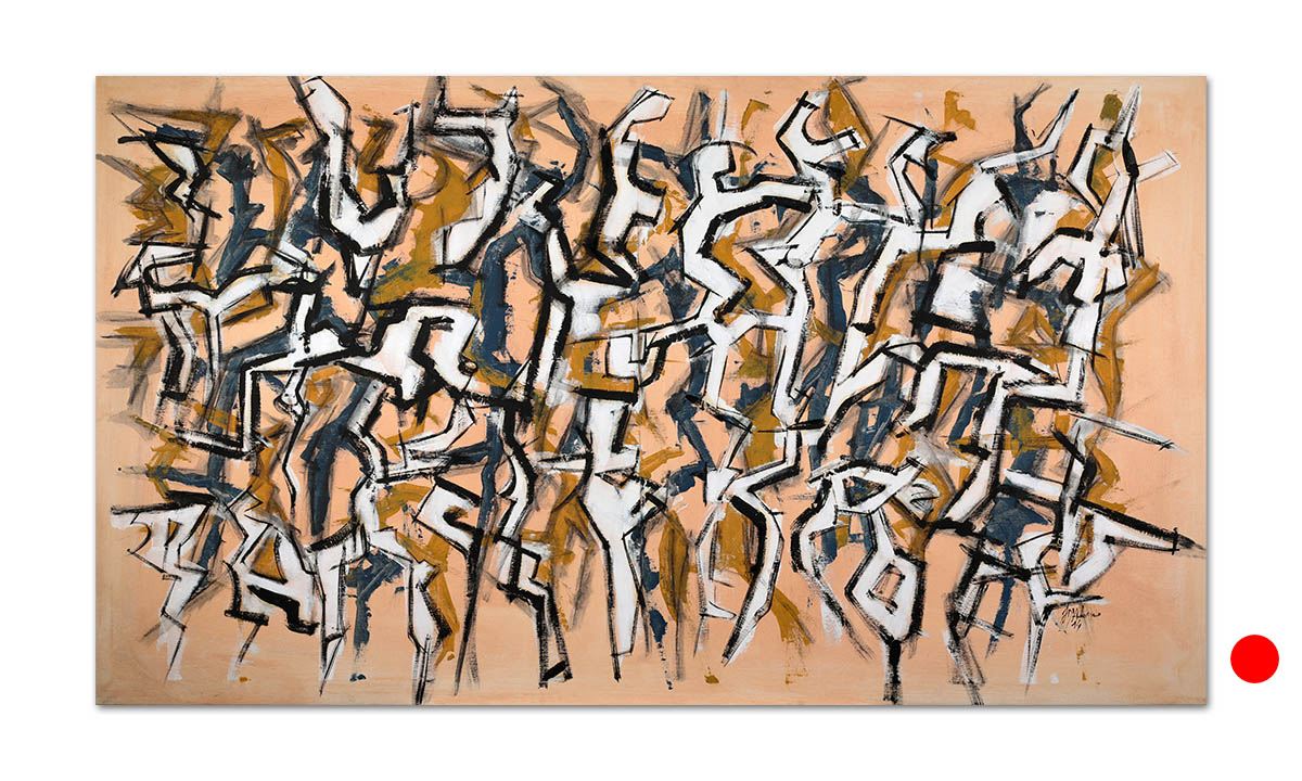 Discordants n° 4 - cm. 88x155, 2014 (Private Collection Brunn Am Gebirge /AT)