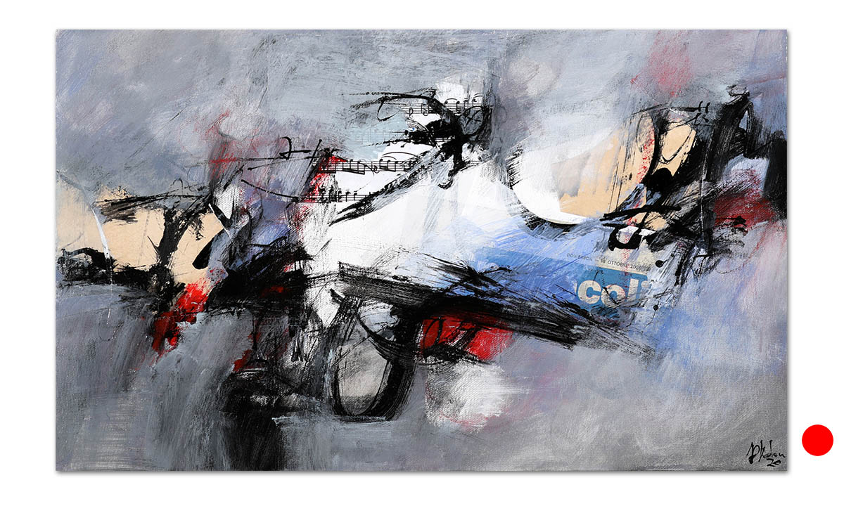 Greys n° 18 - cm. 30x50, 2021 (Private Collection Selci /IT)