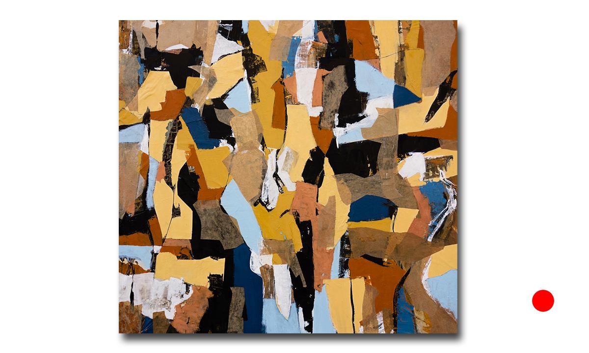 In a Heartbeat - cm. 100x100, 2015 (Private Collection Bologna /IT)