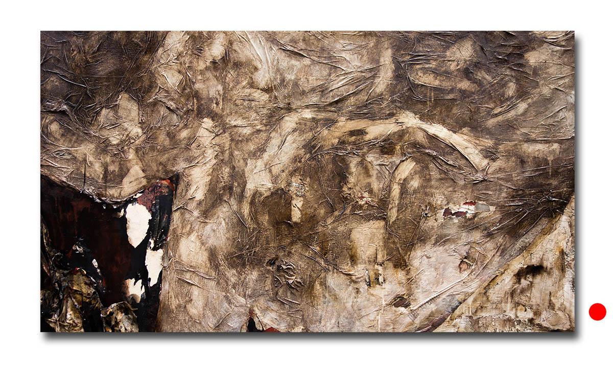 Le Radici della Terra (Oro Nero) - cm. 88x150, 2015 (Private Collection Bologna /IT)