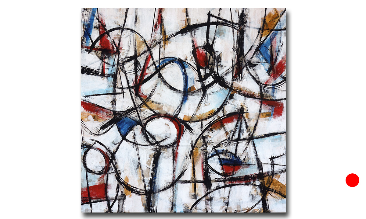 Ten Variations: n° 6 - cm. 80x80, 2018 (Private Collection London /UK)