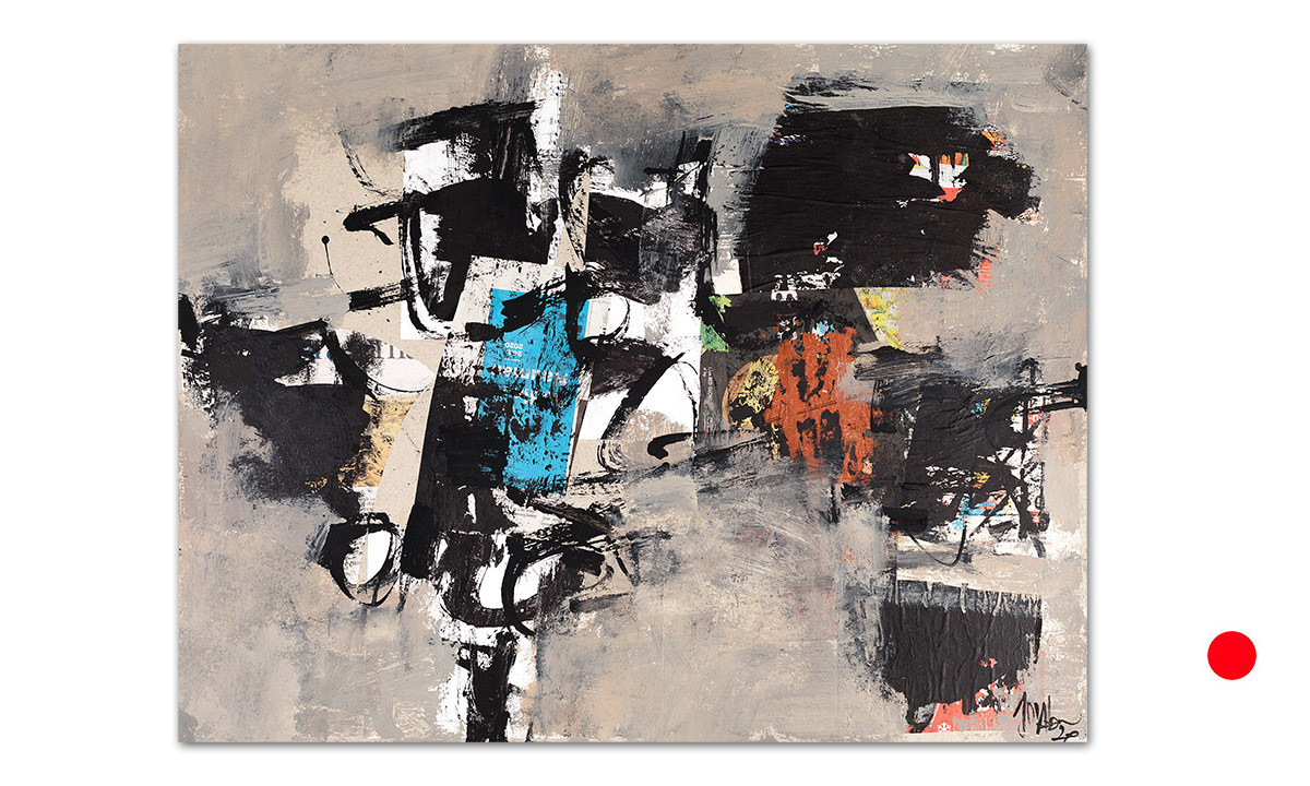 Greys n° 11 - cm. 50x65, 2020 (Private Collection Aljezur /PT)