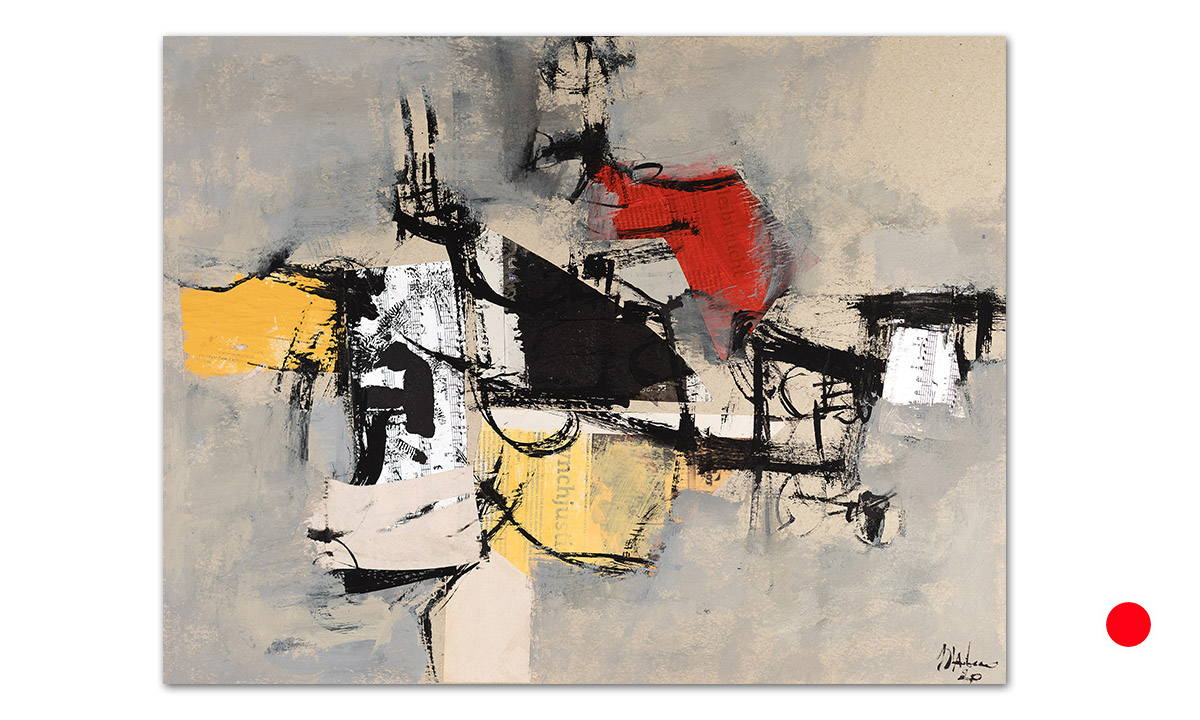 Greys n° 12 - cm. 50x65, 2020 (Private Collection Aljezur /PT)