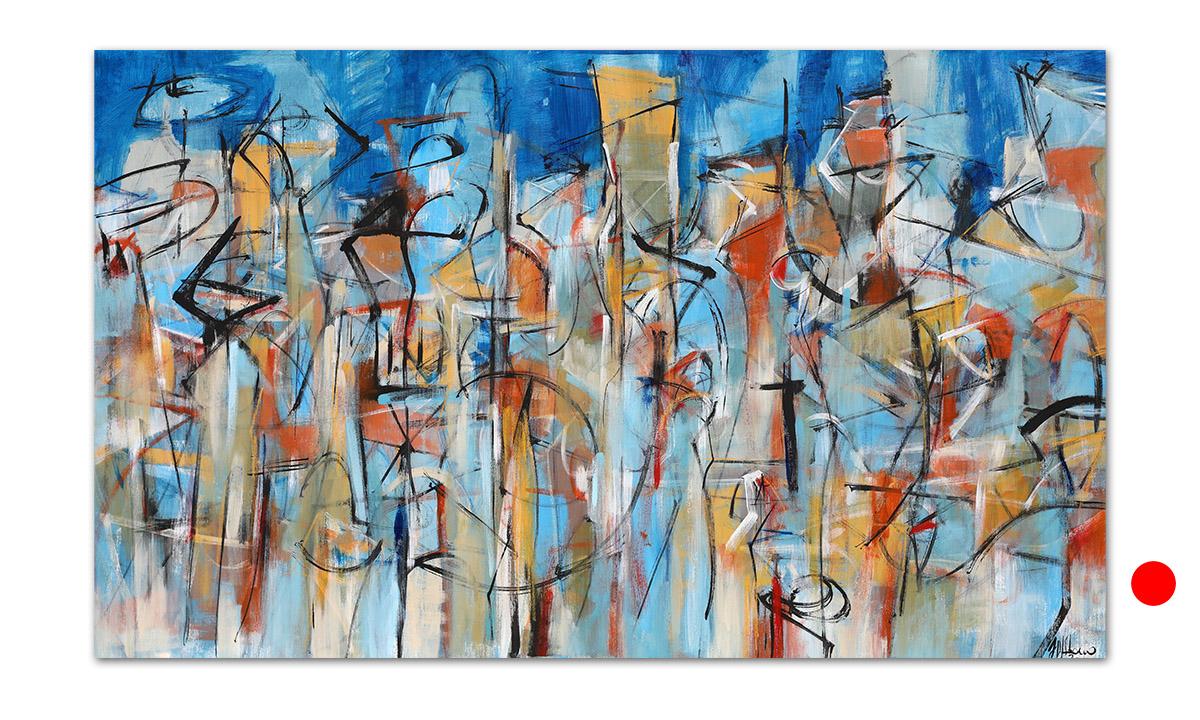 Jam Session - cm. 90x150, 2020 (Private Collection Coledale /AU)