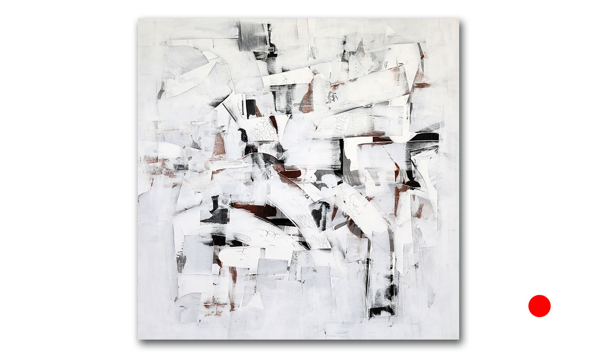 Hidden Cities n° 52 - cm. 130x130, 2021 (Private Collection /UK)