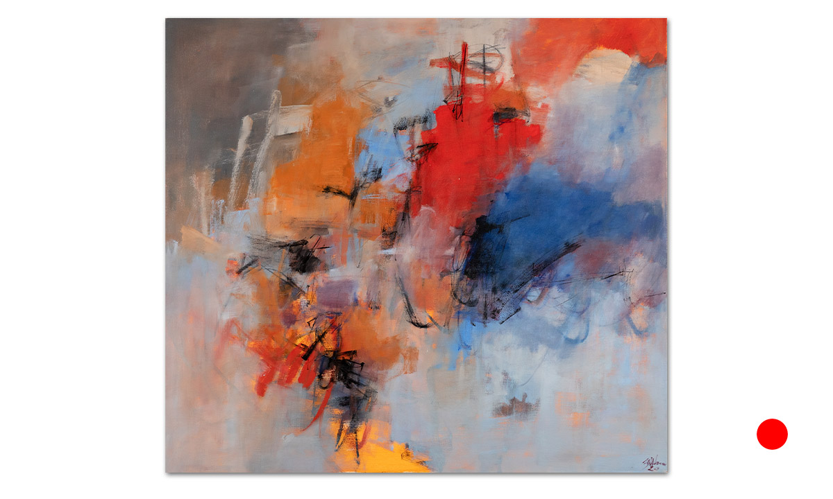 Fortunale - cm. 100x110, 2020 (Private Collection Romainville /FR)