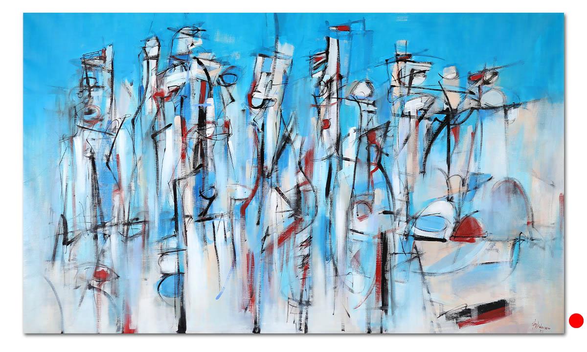 Ritual - cm. 120x200, 2021 (Private Collection Grézieu-la-Varenne /FR)