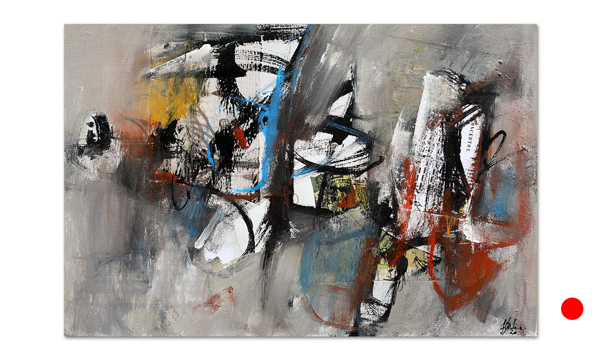 Greys n° 14 - cm. 40x60, 2020 (Private Collection Dublin US)